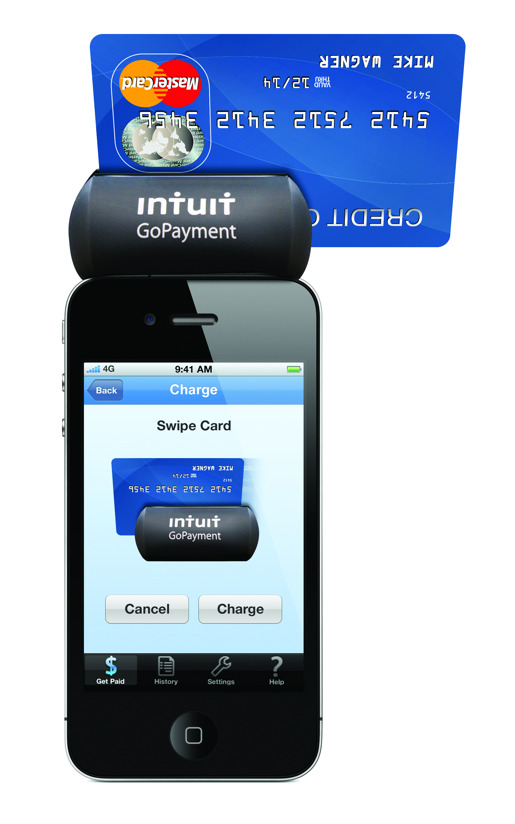 5 mobile credit card processor options for your small business intuit gopayment gopaymentcardreaderwithcard distinguished by its cylindrical card reader colourmoves