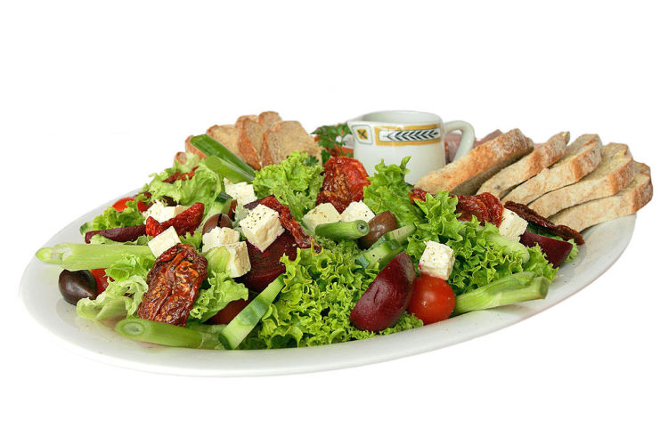 A picture of salad