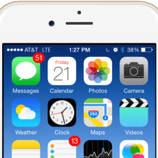 IPhone 5s Apps on white background