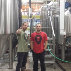 Founders of Bellingham Brewery Aslan and Brewing Tanks