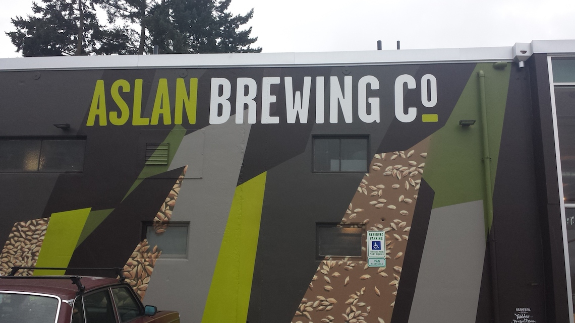 Bellingham Brewery Aslan Side of Building