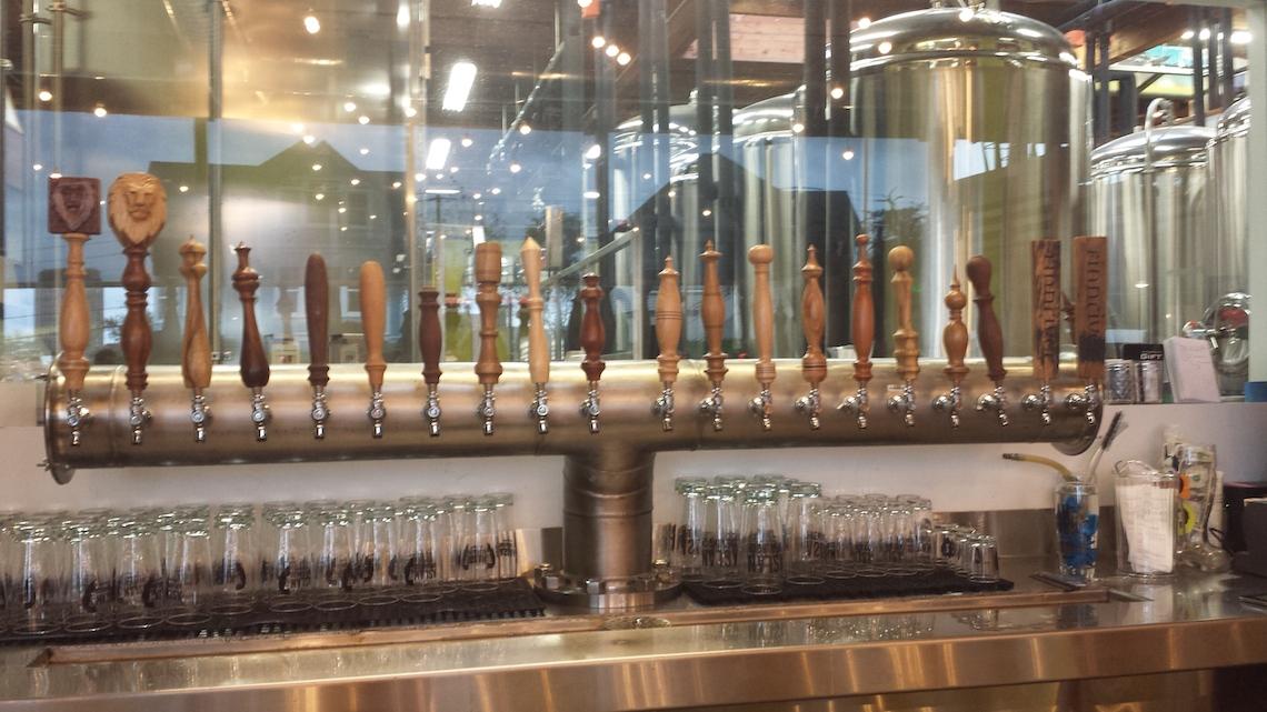 Bellingham Brewery Aslan Beer Taps