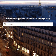 Discover great places in every city
