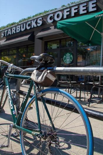 Starbucks store and bike Bellingham