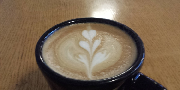 Black Drop Coffee Latte Art Flower