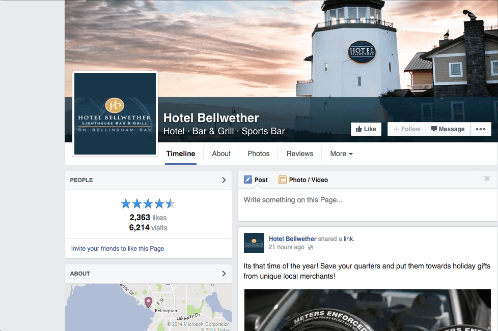 Hotel Bellwether facebook page Lighthouse sunset