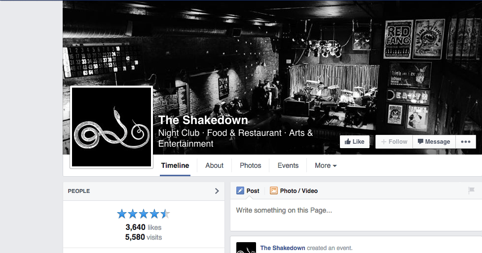The Shakedown facebook page club interior