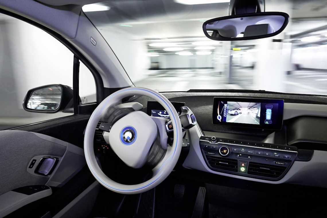 BMW car interior self parking