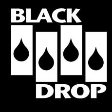 Black Drop black background white bars
