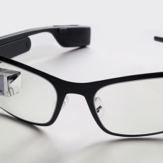 google glass on white background