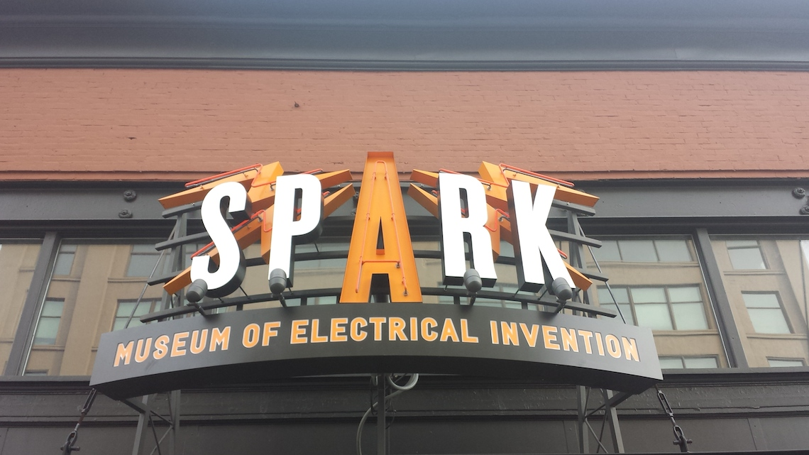 Spark Musuem Sign on building exterior