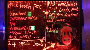 hot point menu sign in red light