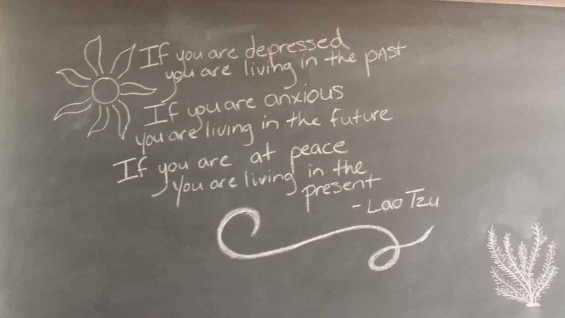 Cosmos Bistro Blackboard Lao Tzu Quote BBN