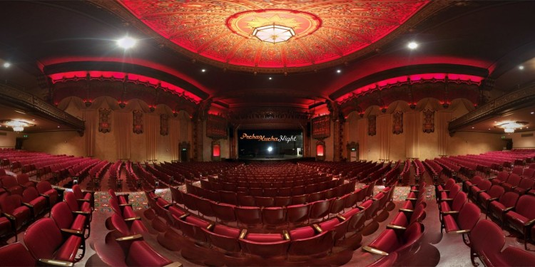Mount Baker Theater Interior With Pecha Kucha Logo